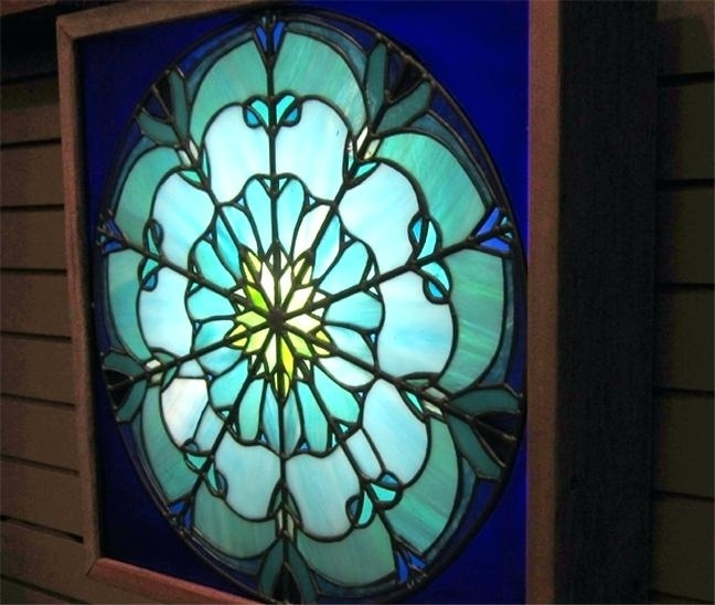 Stained Glass Decorations Art And Stain Glass Stained Glass Wall Regarding Stained Glass Wall Art (View 25 of 25)