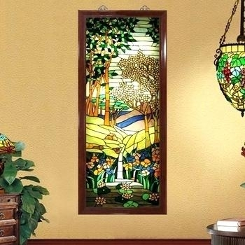 Stained Glass Wall Art Get Quotations A Custom Screen Porch Off Pertaining To Stained Glass Wall Art (View 11 of 25)