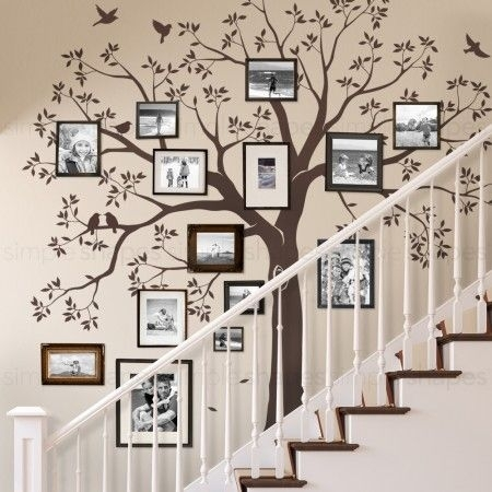Staircase Family Tree Wall Decal | Diy | Pinterest | Family Tree For Family Tree Wall Art (View 3 of 10)