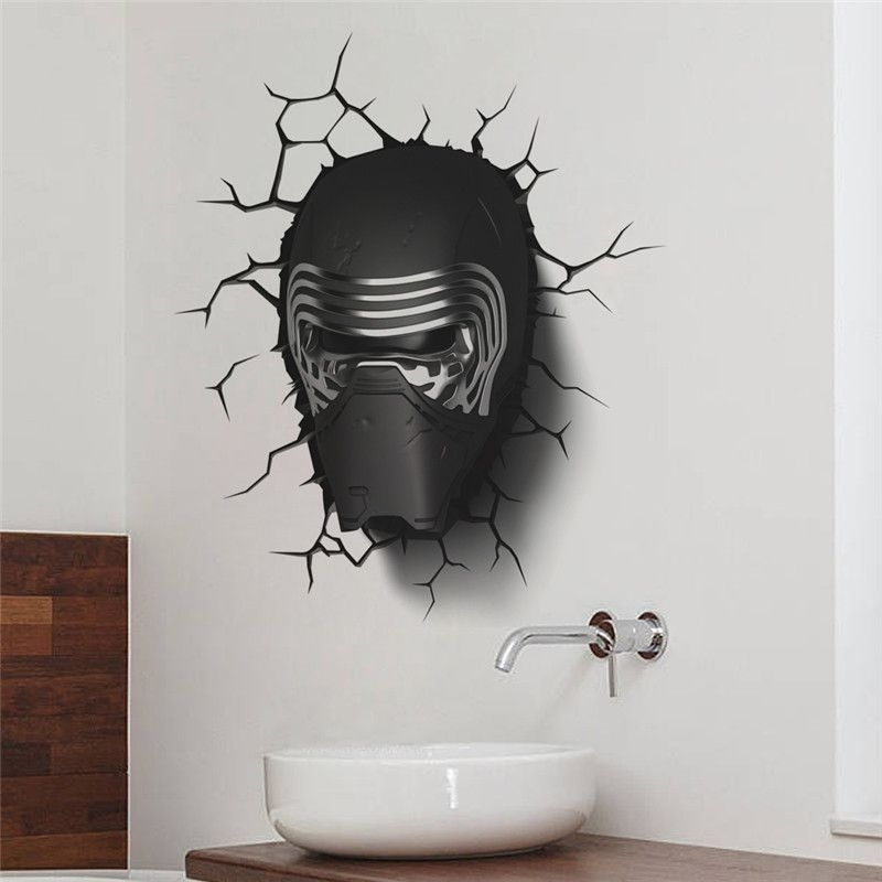 Star War Darth Vader Portrait Wall Stickers Kids Room Decor (View 25 of 25)