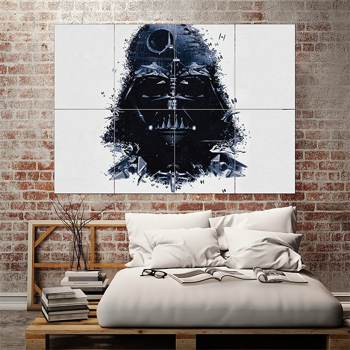 Star Wars Darth Vader Art Block Giant Wall Art Poster Regarding Darth Vader Wall Art (Image 19 of 25)