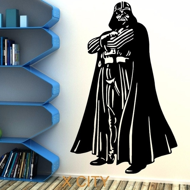 Star Wars Darth Vader Vinyl Wall Art Sticker Room Bedroom Movie For Darth Vader Wall Art (View 7 of 25)