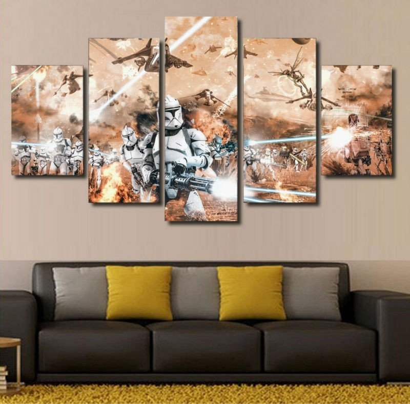 Star Wars Wall Art Theme : Andrews Living Arts – Fantastic Room With Within Star Wars Wall Art (Image 9 of 10)