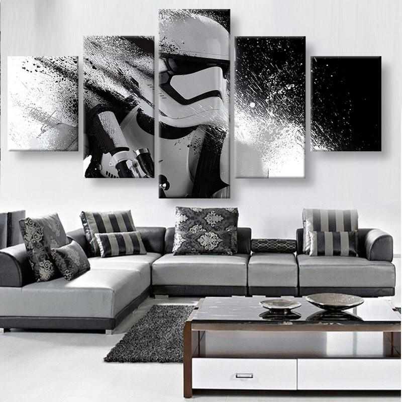 Star Wars White Troopers In Action – Panelwallart Throughout Star Wars Wall Art (Image 10 of 10)