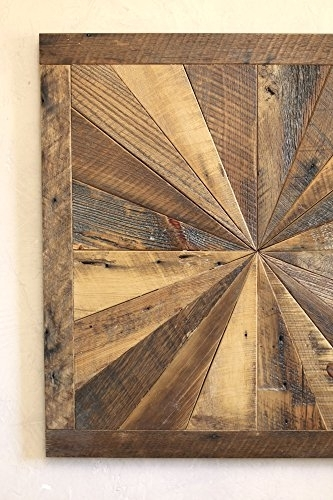 Starburst Pattern Wall Art Made From Reclaimed Wood – Barn Wood Wall Regarding Reclaimed Wood Wall Art (View 2 of 10)