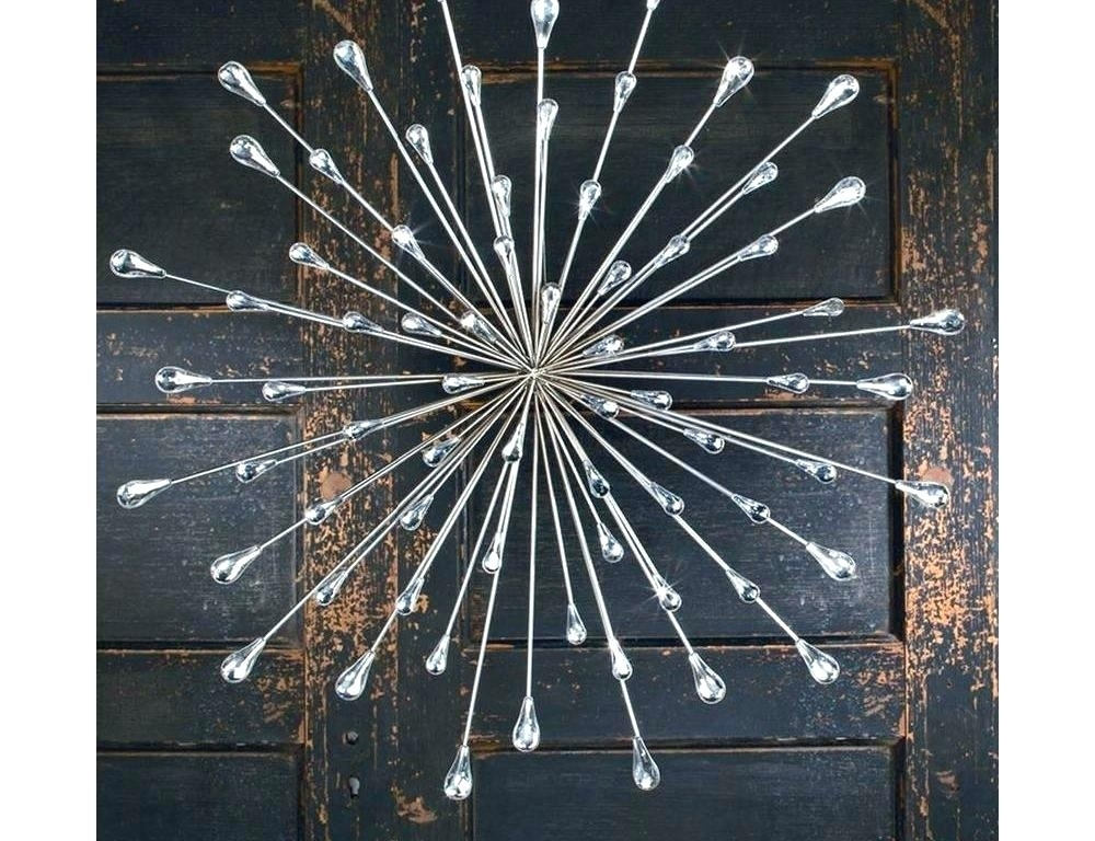 Starburst Wall Decor Chrome Wall Decor Wall Arts Metal Starburst Intended For Starburst Wall Art (View 18 of 25)