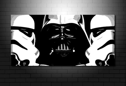 Starwars Canvas Print, Starwars Canvas, Darth Vader Canvas, Star Pertaining To Darth Vader Wall Art (Image 23 of 25)