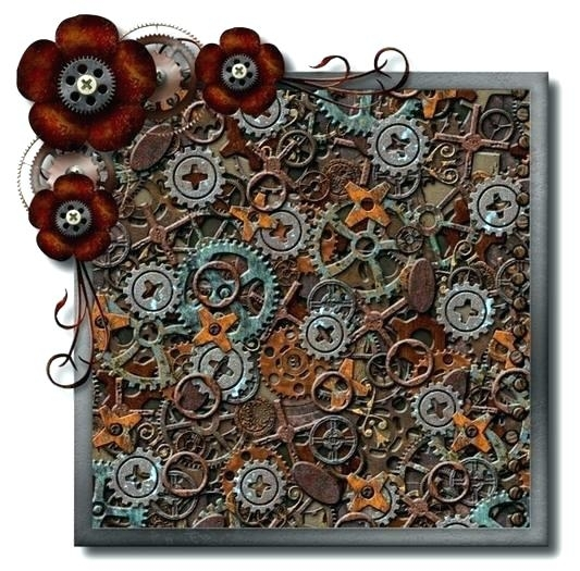 Steampunk Wall Art Lofty Inspiration Amazon Gear Canvas Style Vinyl Throughout Steampunk Wall Art (View 14 of 25)