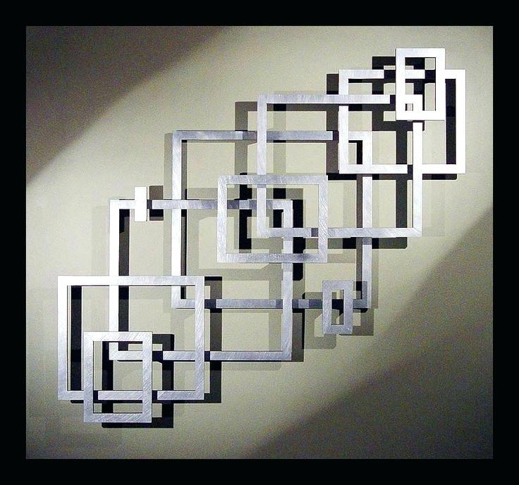 Steel Wall Art Charming Square Embossed Metal Wall Decor Attractive With Modern Metal Wall Art (View 11 of 20)