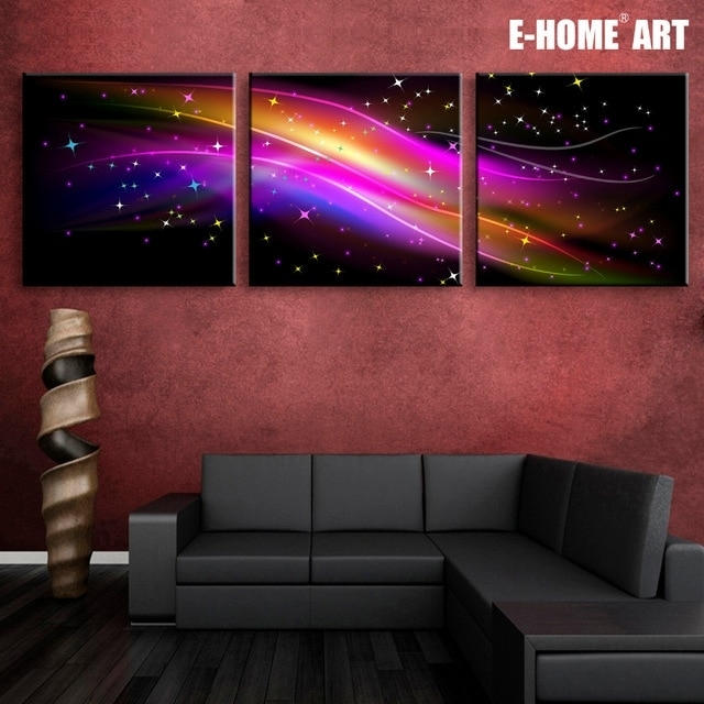 Stretched Canvas Prints Gorgeous Color Led Flashing Optical Fiber Inside Led Wall Art (View 5 of 20)