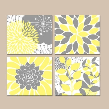 Stunning Gr Trend Yellow And Gray Wall Art – Wall Decoration And Intended For Yellow Wall Art (Image 11 of 20)