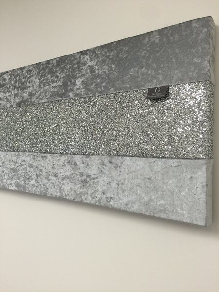 Stunning Gunmetal Grey Crushed Velvet With Silver Glitter Wall Art With Silver Wall Art (Image 17 of 20)