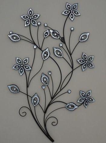 Stunning Large Metal Flower Wall Art (351×473) | Art | Pinterest Throughout Metal Flowers Wall Art (View 10 of 20)