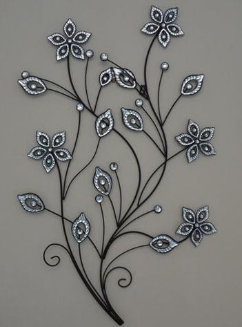 Stunning-Large-Metal-Flower-Wall-Art (351×473) | Art | Pinterest within Metal Flower Wall Art