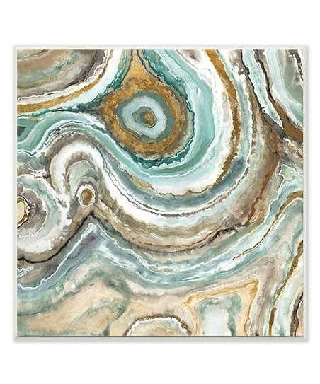 Stupell Industries Teal Abstract Agate Wall Art | Zulily With Regard To Agate Wall Art (View 22 of 25)
