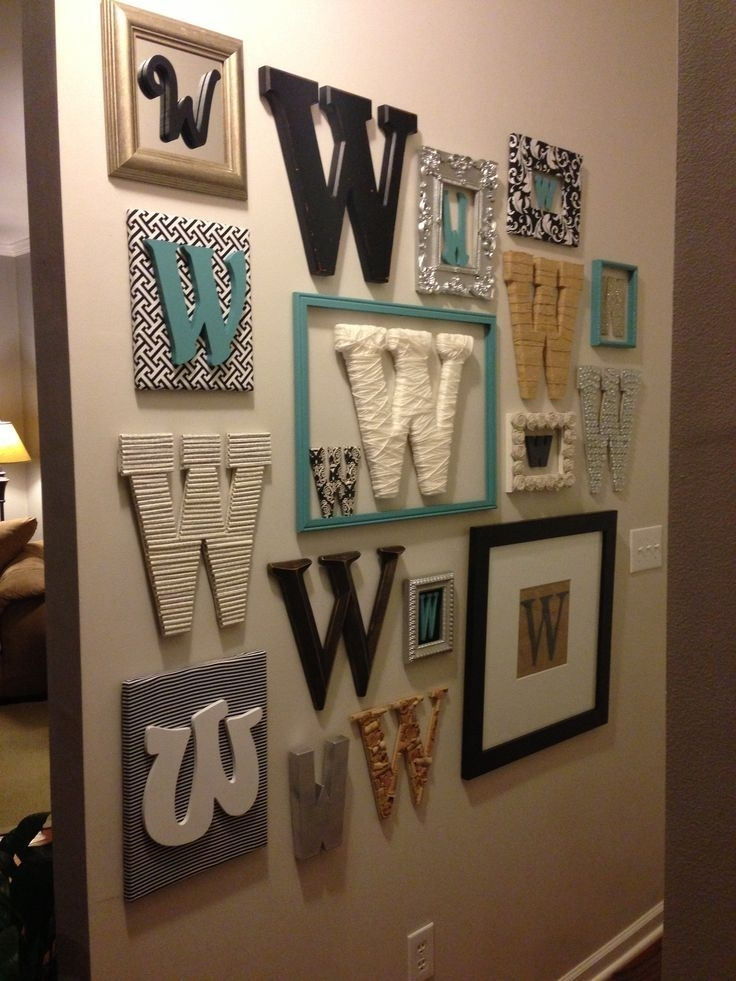 Stylish, Monogrammed Wall Decor | For The Home | Pinterest | Wall With Regard To Monogram Wall Art (Image 21 of 25)