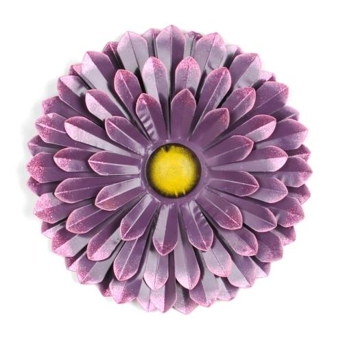 Stylist Design Ideas Metal Flowers Wall Decor Home Decoration Purple In Metal Flowers Wall Art (View 11 of 20)