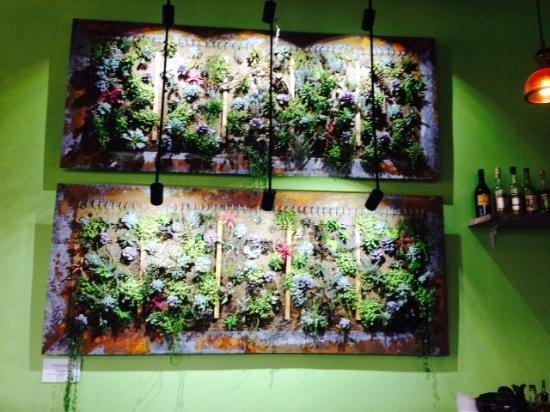 Succulent Wall Art – Picture Of Chartreuse Kitchen & Cocktails Within Succulent Wall Art (Image 18 of 25)
