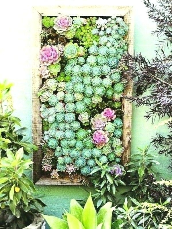 Succulent Wall Decor Succulent Wall Decor Succulent Wall Decor Inside Succulent Wall Art (Image 22 of 25)