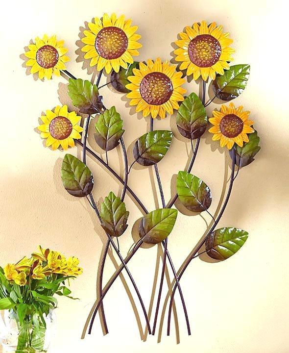 Sunflower Wall Art Outdoor 3D Sunflower Wall Art – Ronseal With Sunflower Wall Art (Image 20 of 25)