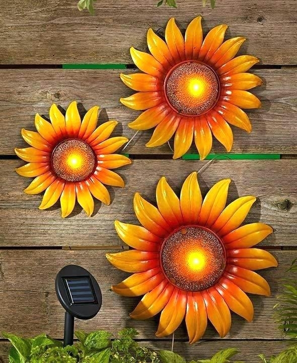 Sunflower Wall Decor Sunflower Wall Art Decor Sunflower Wall Art Set With Sunflower Wall Art (View 11 of 25)