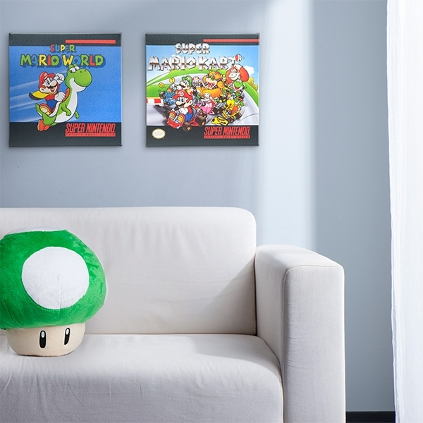 Super Nintendo Box Art Canvas Inside Nintendo Wall Art (Image 17 of 20)