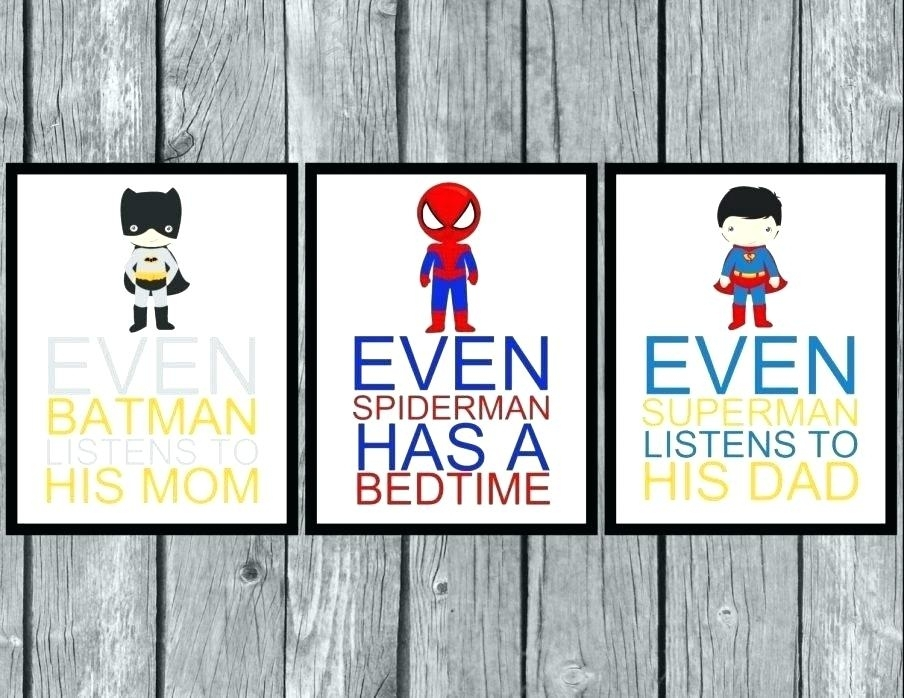 Superhero Canvas Wall Art – Soleemare With Superhero Wall Art (Image 8 of 20)