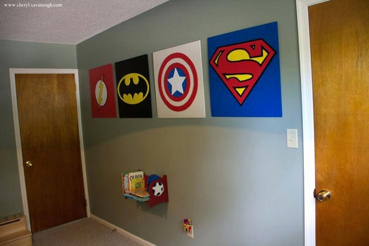Superhero Wall Art Heysmallpress Inspirational Superhero Wall Decor With Superhero Wall Art (Image 12 of 20)