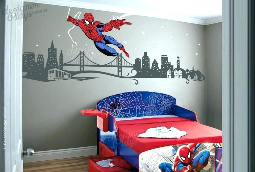 Superhero Wall Decoration Superhero Wall Decals Superhero Wall Throughout Superhero Wall Art (Image 16 of 20)