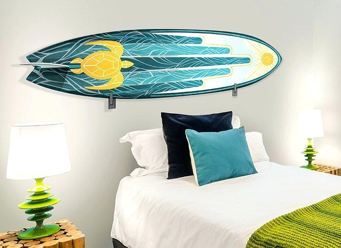 Surf Wall Decor Surfboard Wall Decor For Surf Plans Throughout Throughout Surfboard Wall Art (Image 11 of 25)