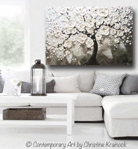 Surprising Design Gray And White Wall Art – Ishlepark In Grey And White Wall Art (Image 24 of 25)
