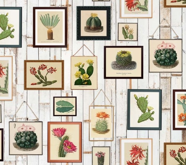 Tapetai Rebelwalls, Home, Cactus Wall Art R15321 | Dekorama In Home Wall Art (View 24 of 25)