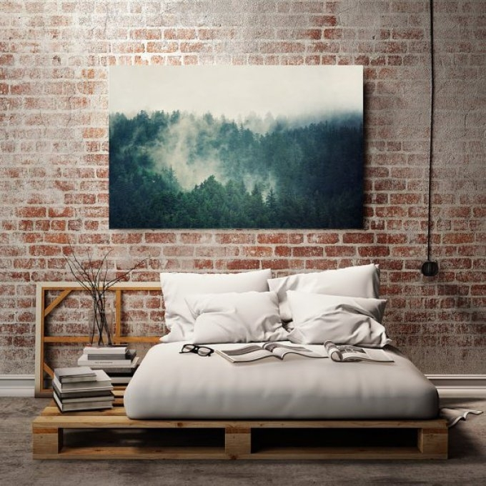 Teal Canvas Art Large Canvas Print Large Wall Art Landscape For Oversized Teal Canvas Wall Art (View 22 of 25)