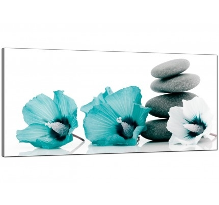 Teal Canvas Pictures Prints & Wall Art – Free Delivery With Teal Wall Art (Image 8 of 10)