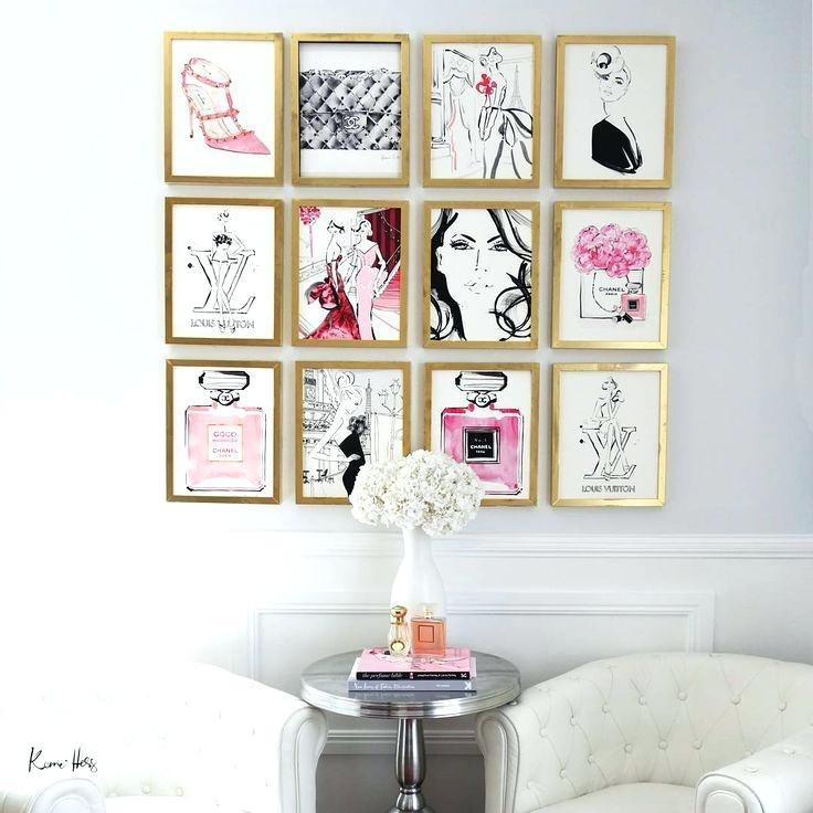 Teen Wall Art Best Fashion Wall Art Ideas On Fashion Prints Fashion Pertaining To Fashion Wall Art (View 5 of 20)