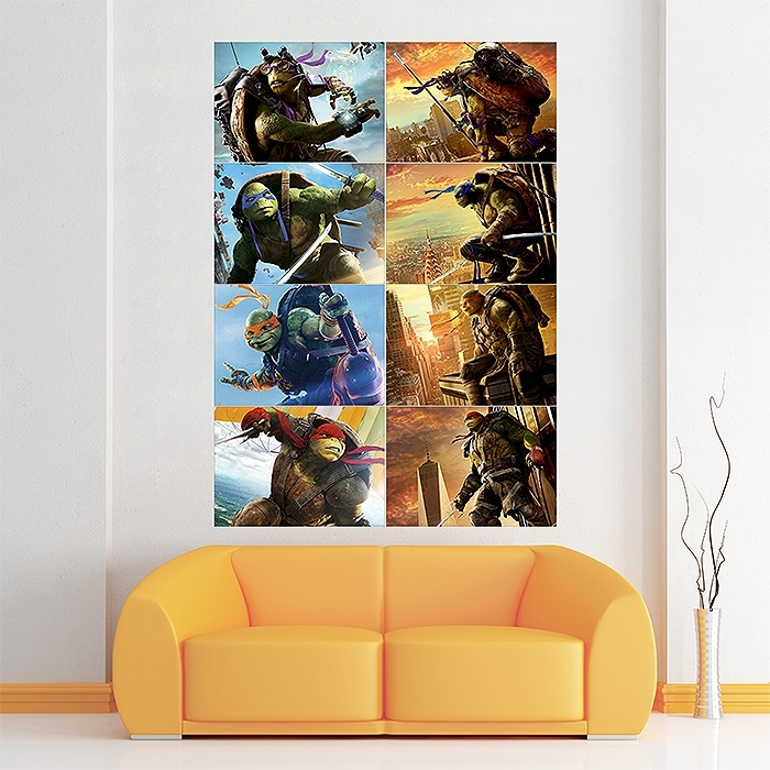 Teenage Mutant Ninja Turtles Characters Block Giant Wall Art Poster Within Ninja Turtle Wall Art (Image 21 of 25)