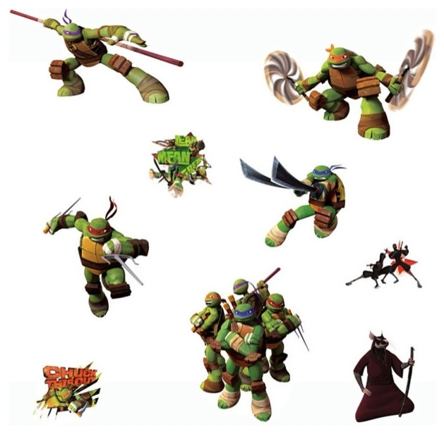 Teenage Mutant Ninja Turtles Wall Stickers Tmnt Decals In Ninja Turtle Wall Art (Image 23 of 25)