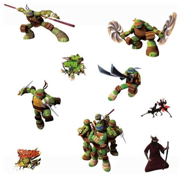 Teenage Mutant Ninja Turtles Wall Stickers Tmnt Decals In Ninja Turtle Wall Art (Image 23 of 25)