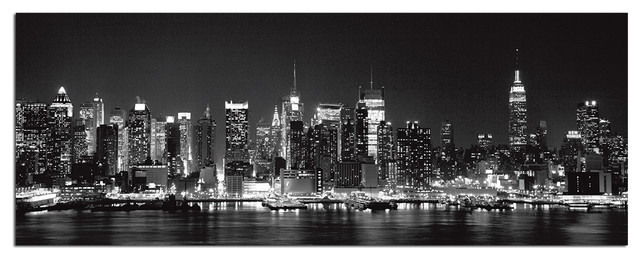 Tempered Glass Wall Art, New York City Skyline 1 – Traditional Within Nyc Wall Art (Image 22 of 25)