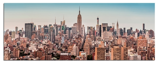 Tempered Glass Wall Art, New York City Skyline 2 – Traditional Inside Nyc Wall Art (Image 23 of 25)