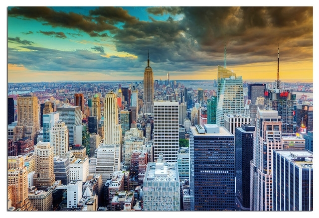 Tempered Glass Wall Art, New York Skyline World Trade Center 2 Throughout New York Wall Art (View 24 of 25)