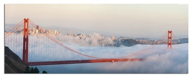 Tempered Glass Wall Art, San Francisco Golden Gate Bridge 3 Intended For San Francisco Wall Art (View 24 of 25)