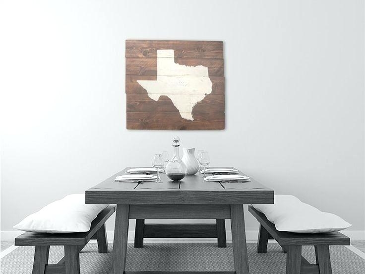 Texas Wall Art Decor Pepper Twin Print Tech Flag Wooden Intended For Texas Wall Art (View 6 of 25)