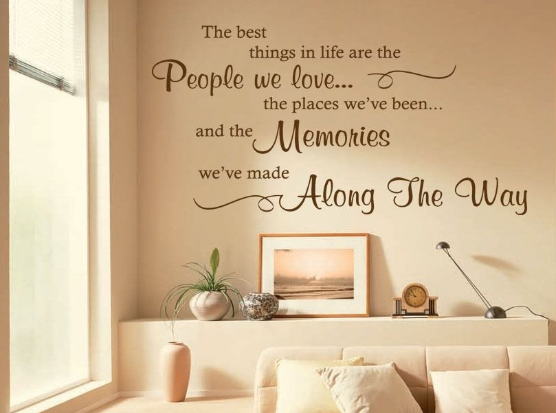 The Best Things In Life Are Wall Art Quote Sticker Decal Modern Inside Wall Art Quotes (View 8 of 20)