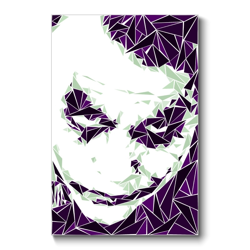 The Joker Abstract Wall Art Canvas Print With Joker Wall Art (Image 12 of 20)