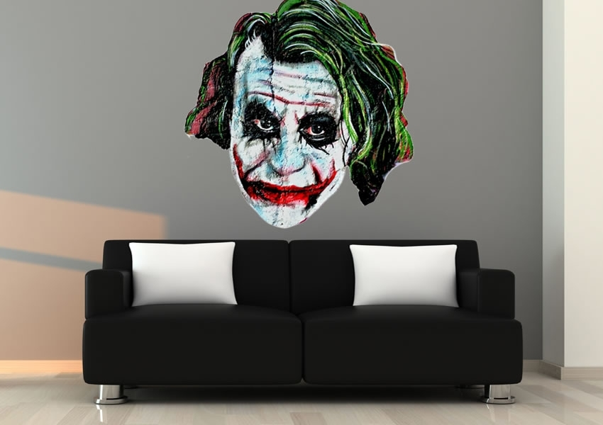 The Joker Urban Printed Wall Sticker Throughout Joker Wall Art (Image 14 of 20)