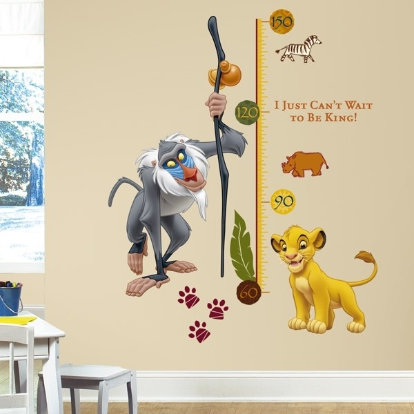 The Lion King Rafiki Height Chart Wall Stickers, Kids Wall Stickers In Lion King Wall Art (View 8 of 25)