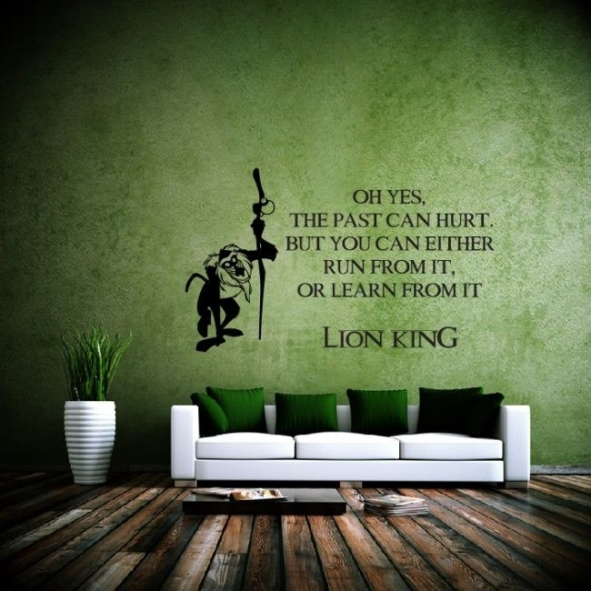 The Past Can Hurt Wall Sticker Lion King Wall Art | Wal | Pinterest With Regard To Lion King Wall Art (View 14 of 25)