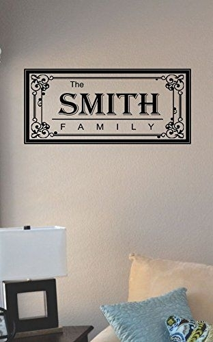 The Smith Family Last Name Vinyl Wall Art Decal Sticker Js Artworks Pertaining To Family Name Wall Art (View 10 of 20)