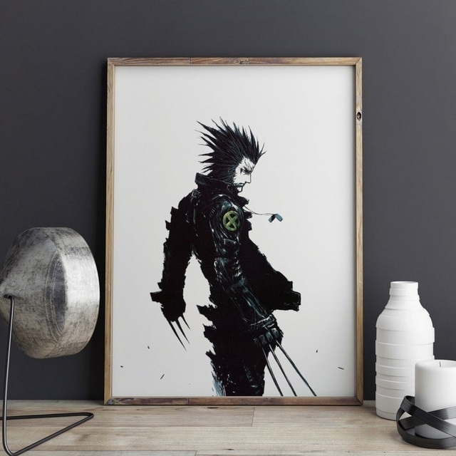 The Wolverine Art Print Wall Decor X Men Art Print Poster Wolf Wall In Wall Art For Men (Image 8 of 10)